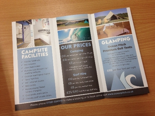 Leaflets for Ocean Pitch Campsite in Croyde