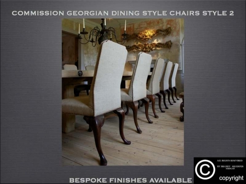 Bespoke Georgian style dining chairs many variations available. www.bespokefurnituremakers.company