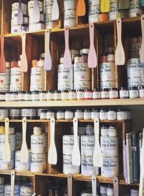 Annie Sloan Chalk Paint Display at La Di Da Interiors, Andover, Hampshire