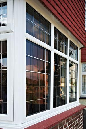 White PVCu windows and leadwork