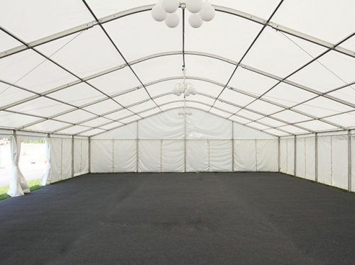 12m marquee in Aldershot for corporate hospitality