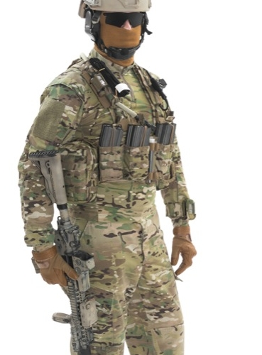 British Combat Uniform with an Airsoft Light Loadout and using an M4 Automatic Electric Gun AEG