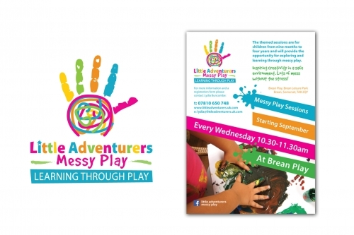 Messy Play Childrens Logo and Poster Design