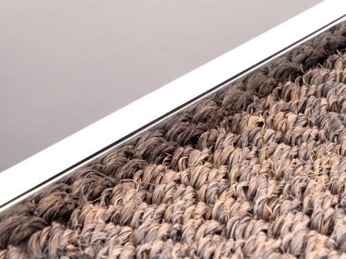 LIPS trim in polished chrome for joining flooring - available online from Carpetrunners.co.uk