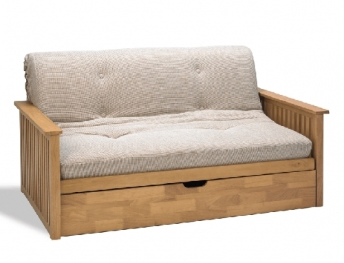 Pangkor 2 Seat Futon Sofabed Frame With Drawer