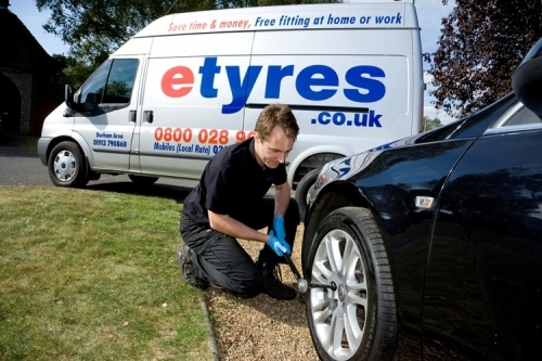 Free tyre or battery fitting at home or work