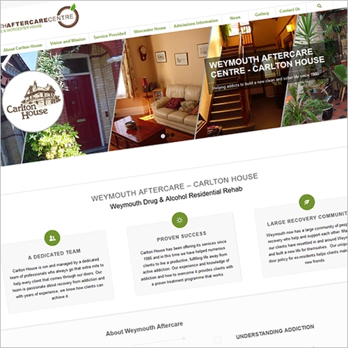 Weymouth Aftercare website design