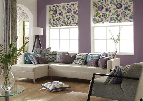 Curtains, Roman Blinds and soft furnishings available at BOS Interiors.