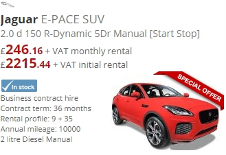 Jaguar E-PACE SUV 2.0d 150 R-Dynamic 5dr Manual [Start Stop]
