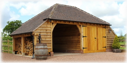 Oak framed garage