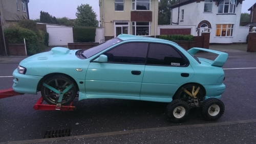 Scooby Full Lift as all wheels was locked up