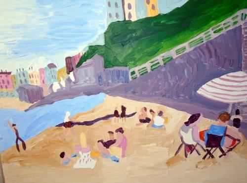 Tenby Beach. Acrylic on canvas. 61cm x 76cm    250