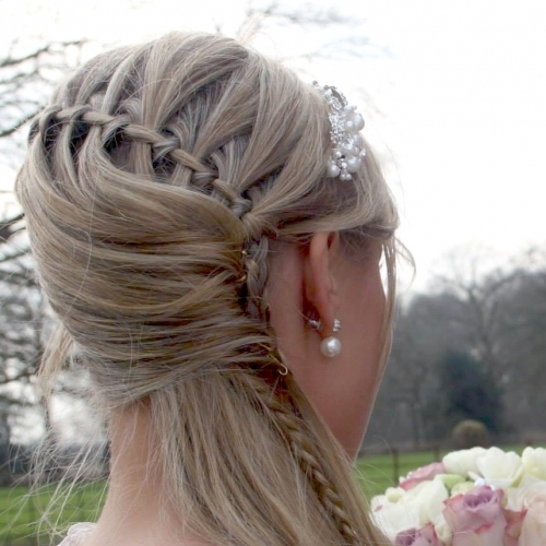 Waterfall plait variation on fine hair by Katie Jane