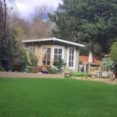Summerhouse And Turf | Greengrass Landscapes Oxford