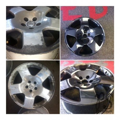 Alloy wheel refurbishment - before and after!