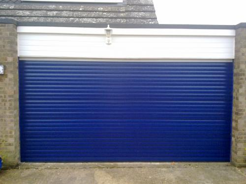 Blue Insulated double Roller Garage Door