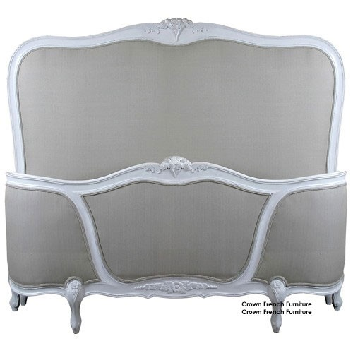 Louis French Upholstered Corbeille Bed