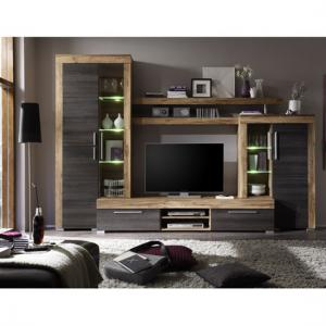 Boom Living Room Furniture Set In Walnut And Dark Brown