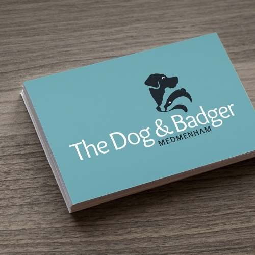 The Dog & Badger, Medmenham: Business Card Branding, Logo Design, Stationery, Marketing Material & Responsive Website.