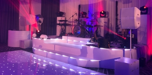 Multi level band stage