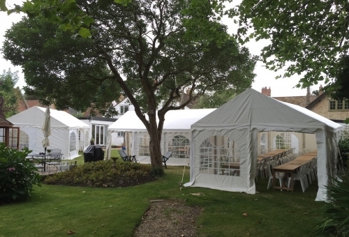 Various 4m Wide Marquees To Hold Guests At A Wake