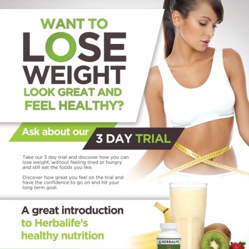 Herbalife 3day Trial Poster