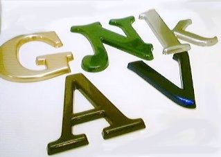 Moulded and Flat-Cut Perspex Letters
