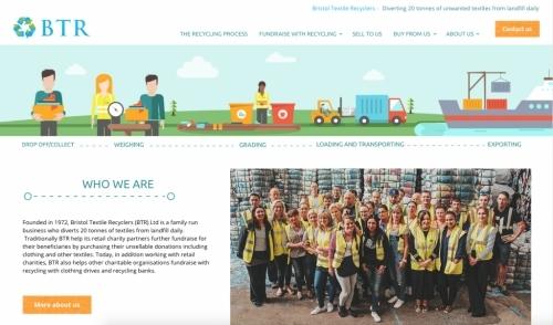 Bristol Textile Recyclers web design