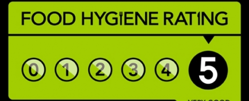 5 Stars Food Hygene Award by Local Authority
